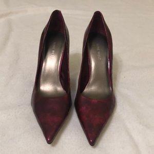 Nine West Cranberry Pointed Ties Stilettos